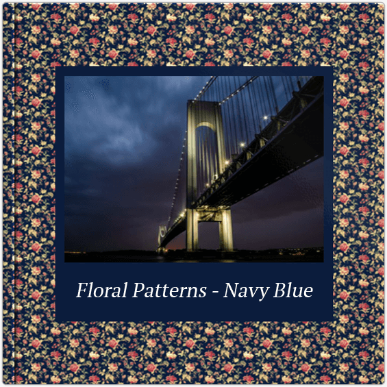Fotoalbum Floral Patterns Navy Blue Colorland