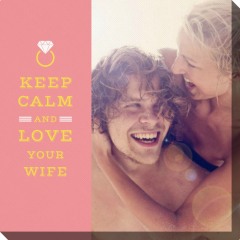 Fotoobraz Keep Calm and Love Your Wife Colorland